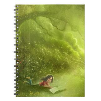 fancy green dream Notebook