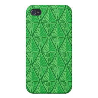 Fancy Green Tropical Leaves iPhone 4/4S Case