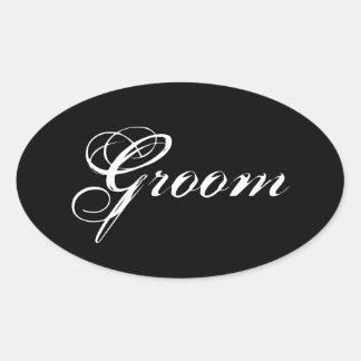 Fancy Groom Oval Stickers
