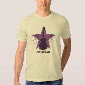 Fancy Guitar Star Swirls Men's Tee, Purple T Shirt