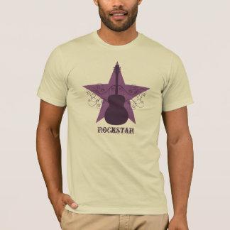 Fancy Guitar Star Swirls Men's Tee, Purple T-Shirt