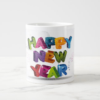Fancy Happy New Year Text Specialty Mug Extra Large Mug