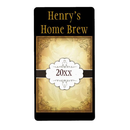 Fancy Home Brew Label Shipping Label
