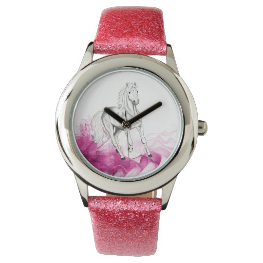 fancy horse motif, watch with horse-design
