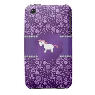 Fancy horse purple flowers iPhone 3 case