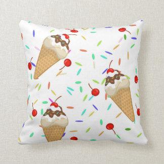 Fancy Ice Cream Cone Pillow