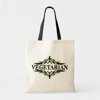 Fancy in Black - Vegetarian Budget Tote Bag