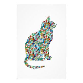 FANCY Jewel n Stones Studded  CAT -  Pet Animal Customised Stationery