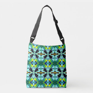 Fancy Kaleidoscope Butterfly Image Designed Crossbody Bag