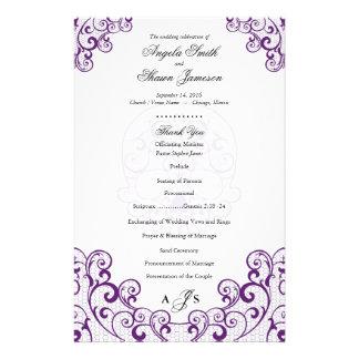 """Fancy Lace Swirl Skull 5.5 x 8.5"""" Wedding Programs 14 Cm X 21.5 Cm Flyer"""