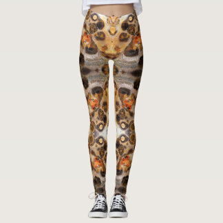 Fancy Leopard Skin Rock Photo Designed Color Leggings