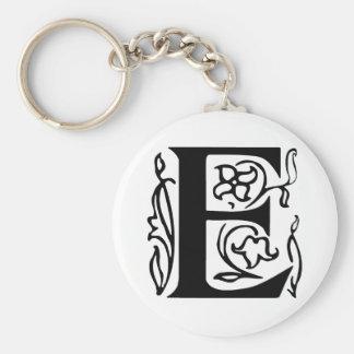 Fancy Letter E Key Ring
