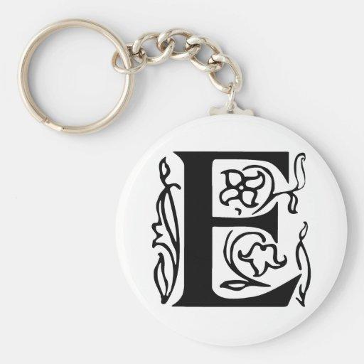 Fancy Letter E Key Chain