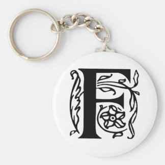 Fancy Letter F Key Ring