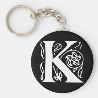 Fancy Letter K Keychain