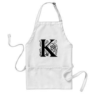 Fancy Letter K Standard Apron