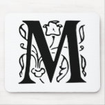 Fancy Letter M Mouse Pad