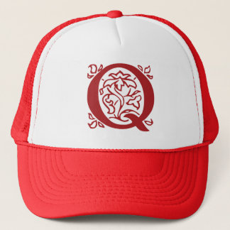 Fancy Letter Q Trucker Hat