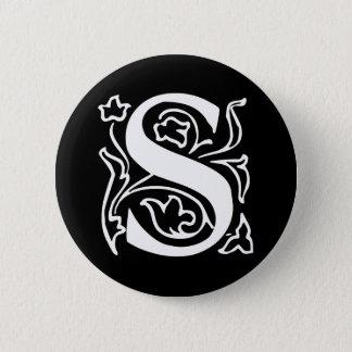 Fancy Letter S 6 Cm Round Badge