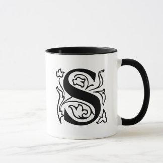 Fancy Letter S Mug