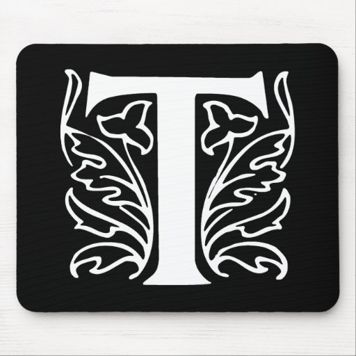 Fancy Letter T Mouse Pad