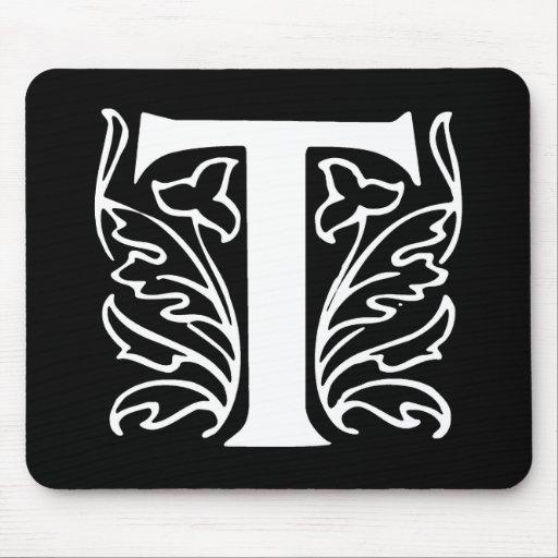 Fancy Letter T Mouse Pad
