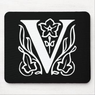 Fancy Letter V Mouse Mat