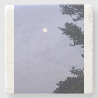 FANCY LIGHT BLUE MOON SKY STONE COASTER