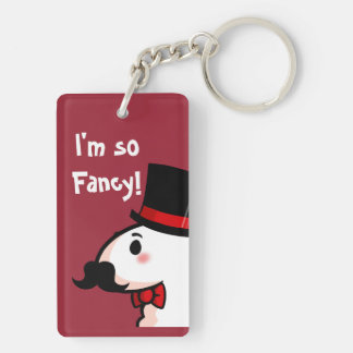 Fancy Llama Double-Sided Rectangular Acrylic Key Ring