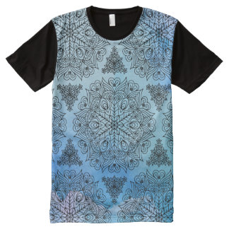 Fancy Mandala Abstract Flower Pattern All-Over Print T-Shirt