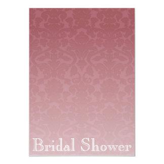 Fancy Merlot Damask Bridal Shower Invitation
