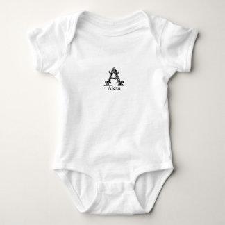 Fancy Monogram: Alexa Baby Bodysuit