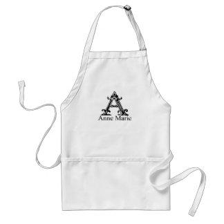 Fancy Monogram: Anne Marie Standard Apron