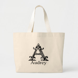 Fancy Monogram: Audrey Large Tote Bag