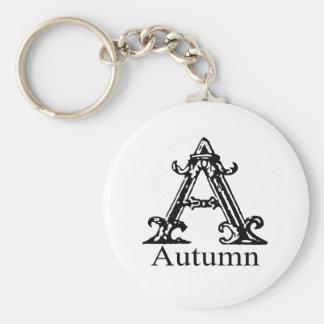Fancy Monogram: Autumn Key Ring