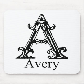 Fancy Monogram: Avery Mouse Pad