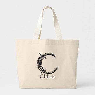 Fancy Monogram: Chloe Large Tote Bag