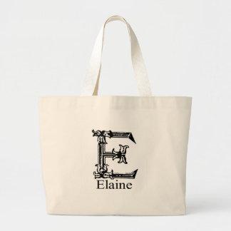 Fancy Monogram: Elaine Large Tote Bag