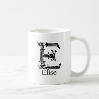 Fancy Monogram: Elise Basic White Mug