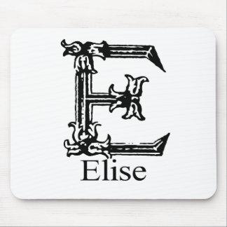 Fancy Monogram: Elise Mouse Pad