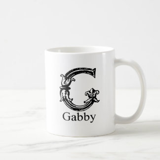 Fancy Monogram: Gabby Basic White Mug