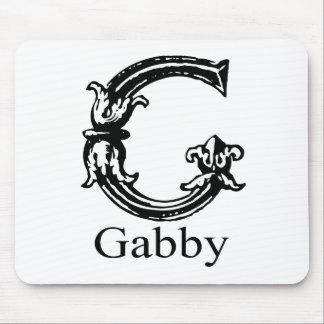 Fancy Monogram Gabby Mousepads
