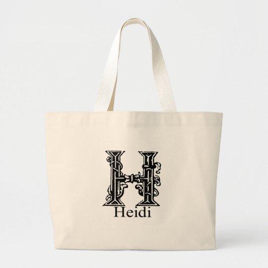 Fancy Monogram: Heidi Large Tote Bag