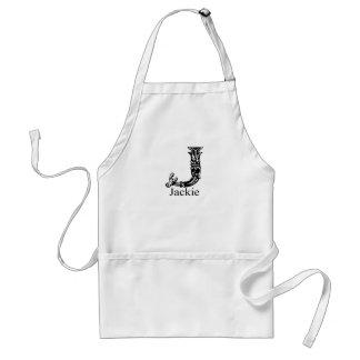 Fancy Monogram: Jackie Standard Apron