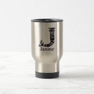 Fancy Monogram Janine Coffee Mug
