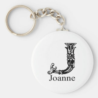 Fancy Monogram: Joanne Key Ring