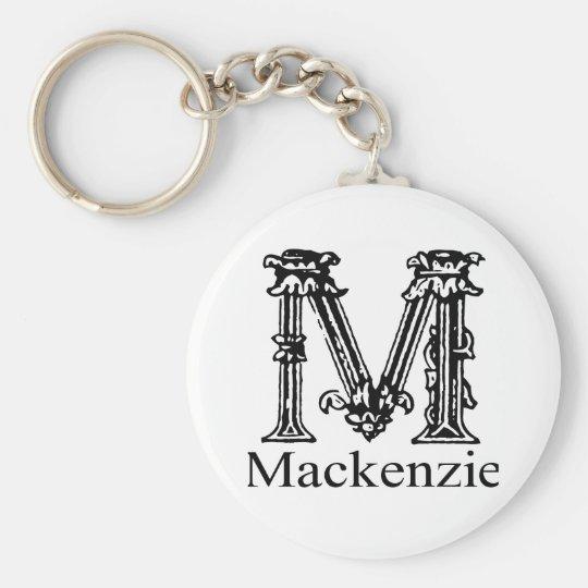 Fancy Monogram: Mackenzie Key Ring