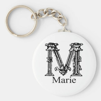 Fancy Monogram: Marie Key Ring