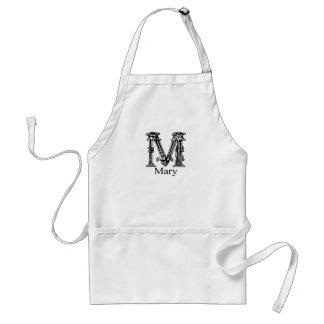 Fancy Monogram: Mary Standard Apron