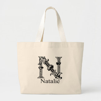 Fancy Monogram: Natalie Large Tote Bag